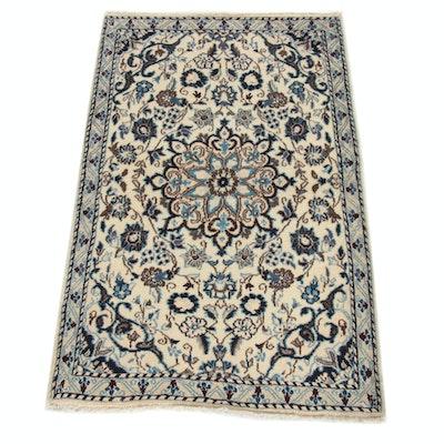 2'11 x 4'8 Hand-Knotted Persian Nain Rug, 1990s