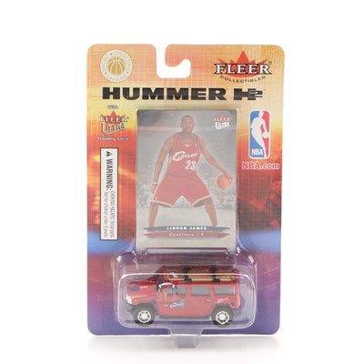 LeBron James Cleveland Cavaliers Hummer H2 Fleer Ultra Trading Card 2004