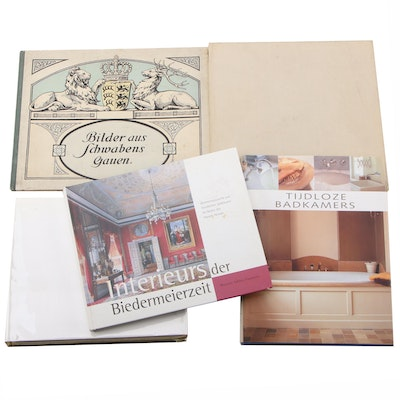 Interior Design Books in German, Dutch, and French