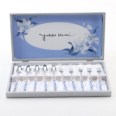 Yukiko Hanai Blue and White Floral Flatware