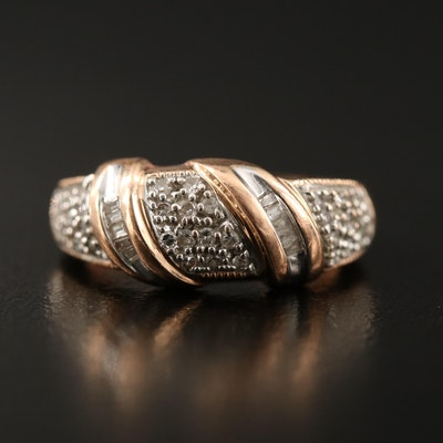 14K Diamond Wrapped Ring