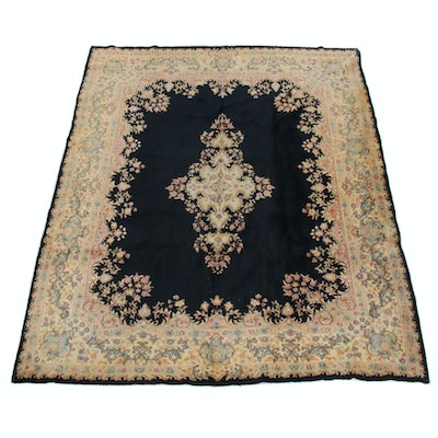 7'10 x 9'10 Hand-Knotted Persian Kerman Rug, 1980s