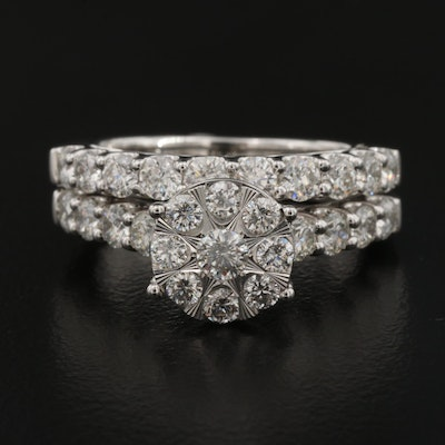 14K 1.79 CTW Diamond Ring Set