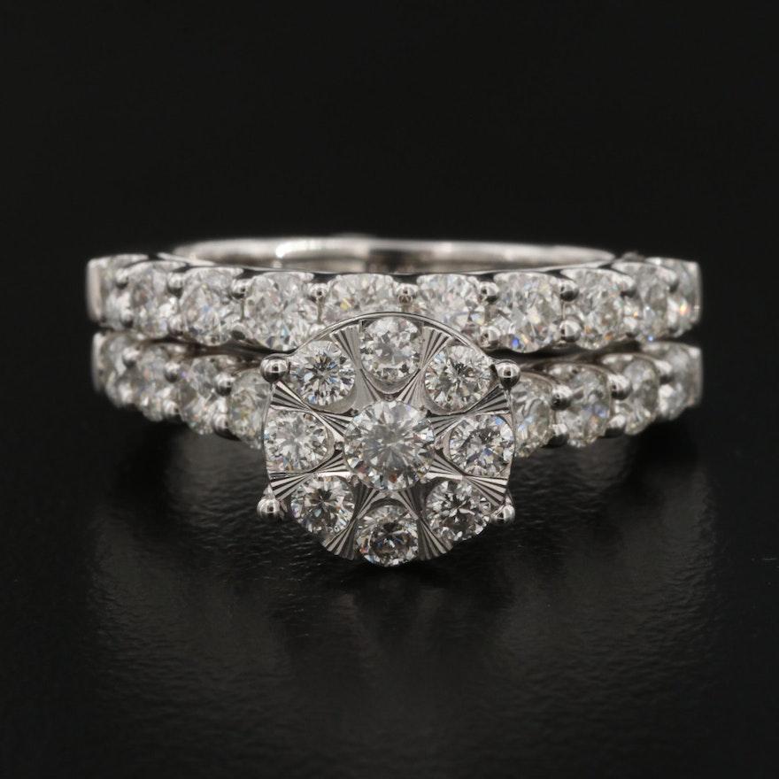 14K 1.79 CTW Diamond Ring Set