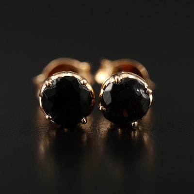 14K Cubic Zirconia Stud Earrings