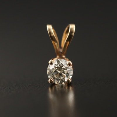 14K 0.31 CT Diamond Pendant