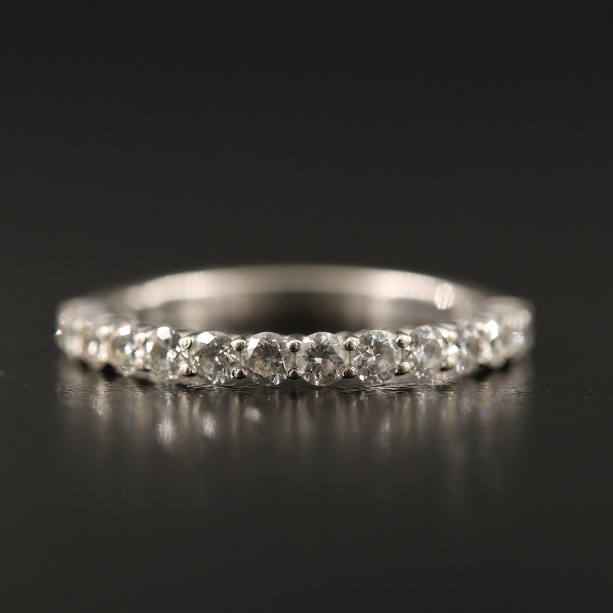 14K Round Brilliant Cut Diamond Band