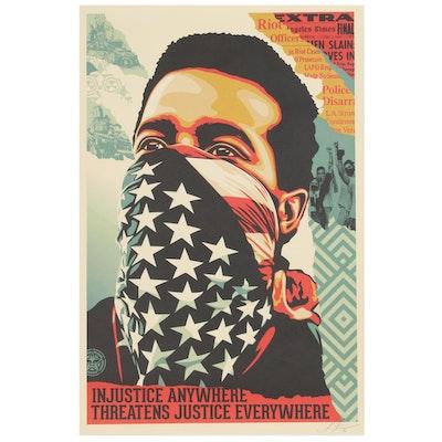 "Shepard Fairey Offset Print ""American Rage"""