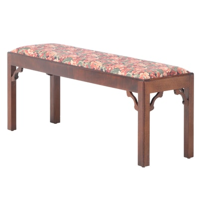 Chippendale Style Mahogany Bench, 20th Century