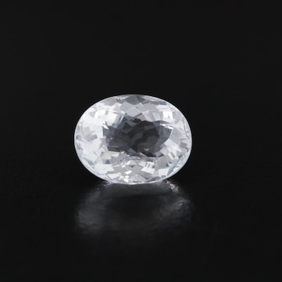 Loose 5.65 CT Oval Faceted Aquamarine