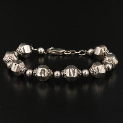 Vintage Sterling Beaded Bracelet