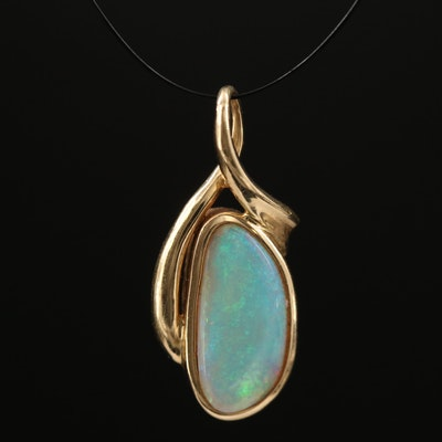 14K Opal Pendant