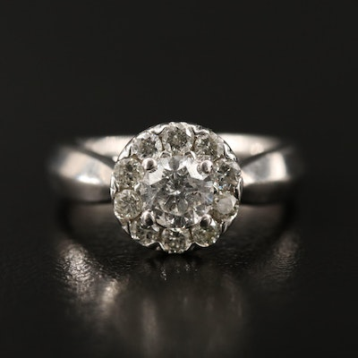 14K 1.00 CTW Diamond Halo Ring
