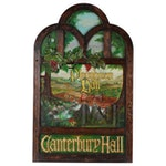 """Jeff Crowe Painted Wooden Sign for the Drawbridge Inn """"Ploughman Hall"""""""