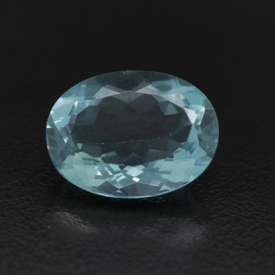 Loose 10.92 CTW Oval Faceted Fluorite