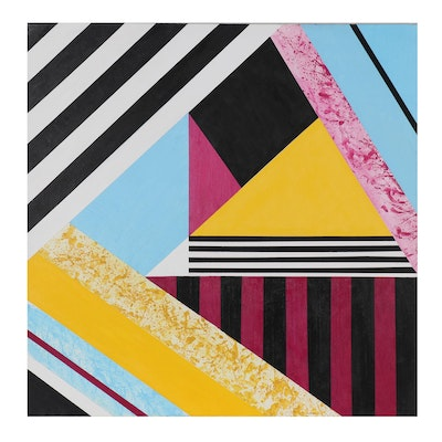 Kelsey Marotta Abstract Geometric Acrylic Painting, 2012