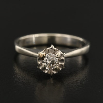 14K 0.18 CT Diamond Solitaire Ring