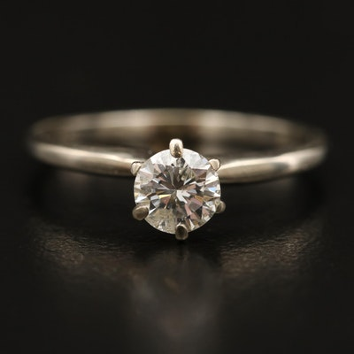 14K 0.49 CT Diamond Solitaire Ring