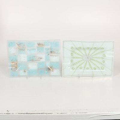 Higgins Glass Serving Platters
