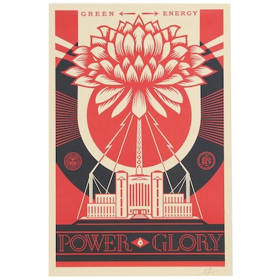 "Shepard Fairey Offset Print ""Green Energy - Power Glory"", 2019"
