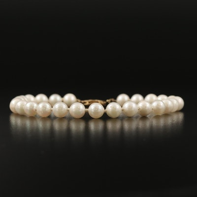 Knotted Pearl Bracelet with 14K Clasp