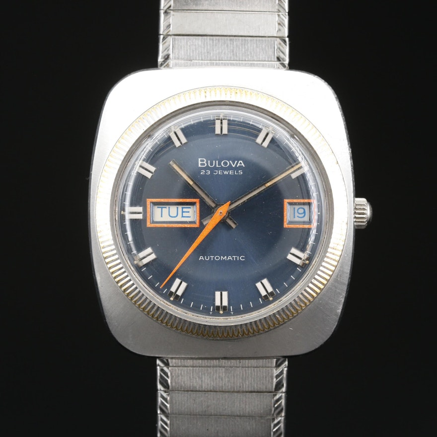 1974 Bulova Senator A Stainless Steel Automatic Wristwatch