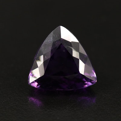 Loose 18.55 CT Trillion Faceted Amethyst