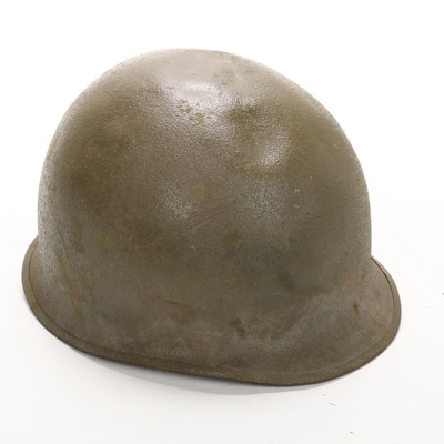 Vietnam War Era U.S. M1 Combat Helmet with Camouflage Cover