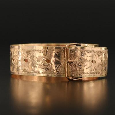 Antique Victorian Engraved Buckle Bracelet