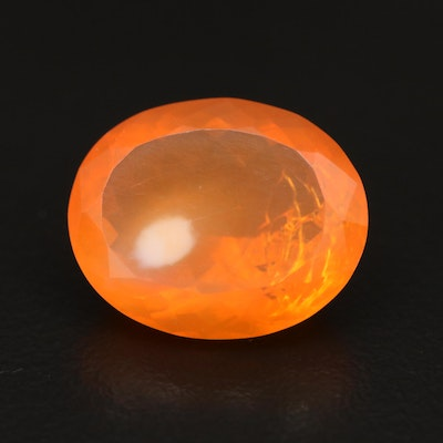 Loose 8.89 CT Oval Faceted Opal