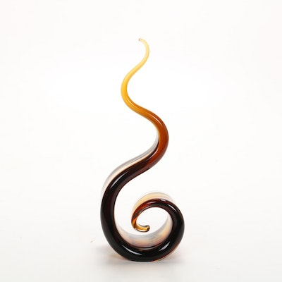 Modernist Art Glass Sculpture