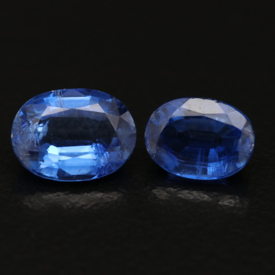 Loose 2.60 CTW Oval Faceted Sapphires