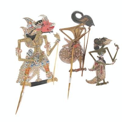 Indonesian Wayang Kulit Shadow Puppets