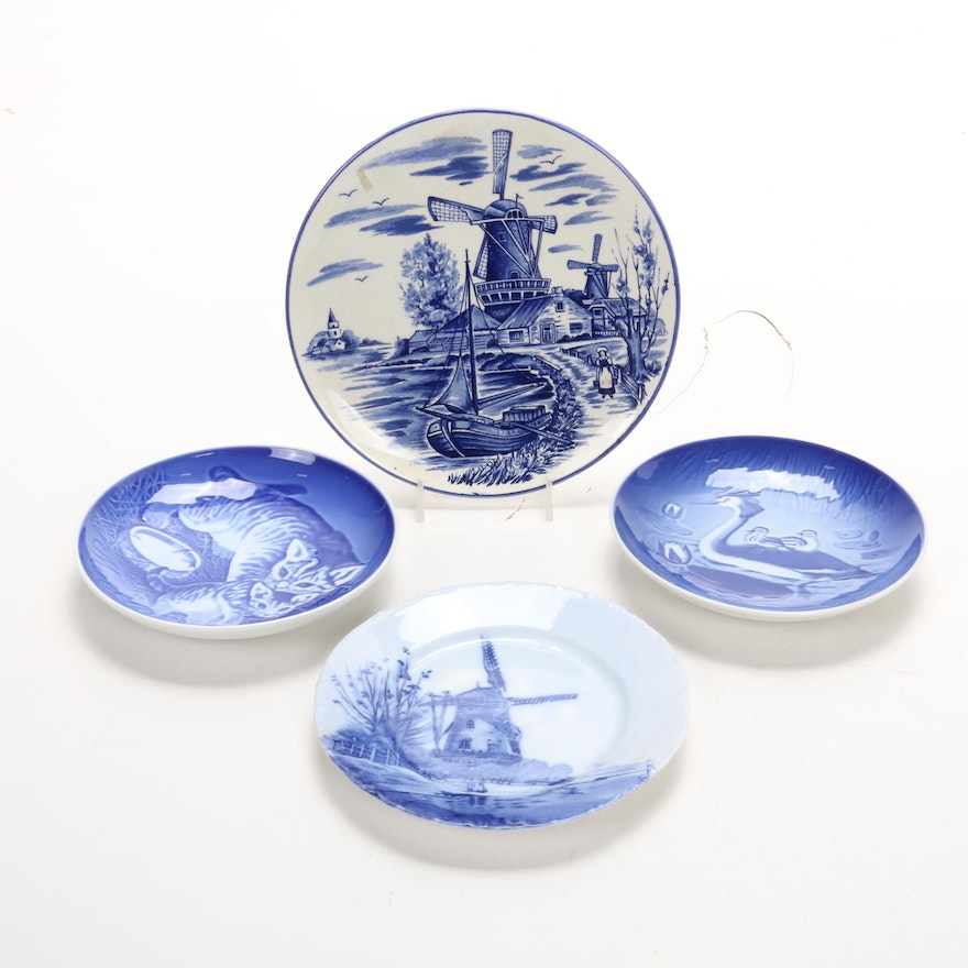 Bing & Grøndahl Porcelain with Other Blue and White Plates