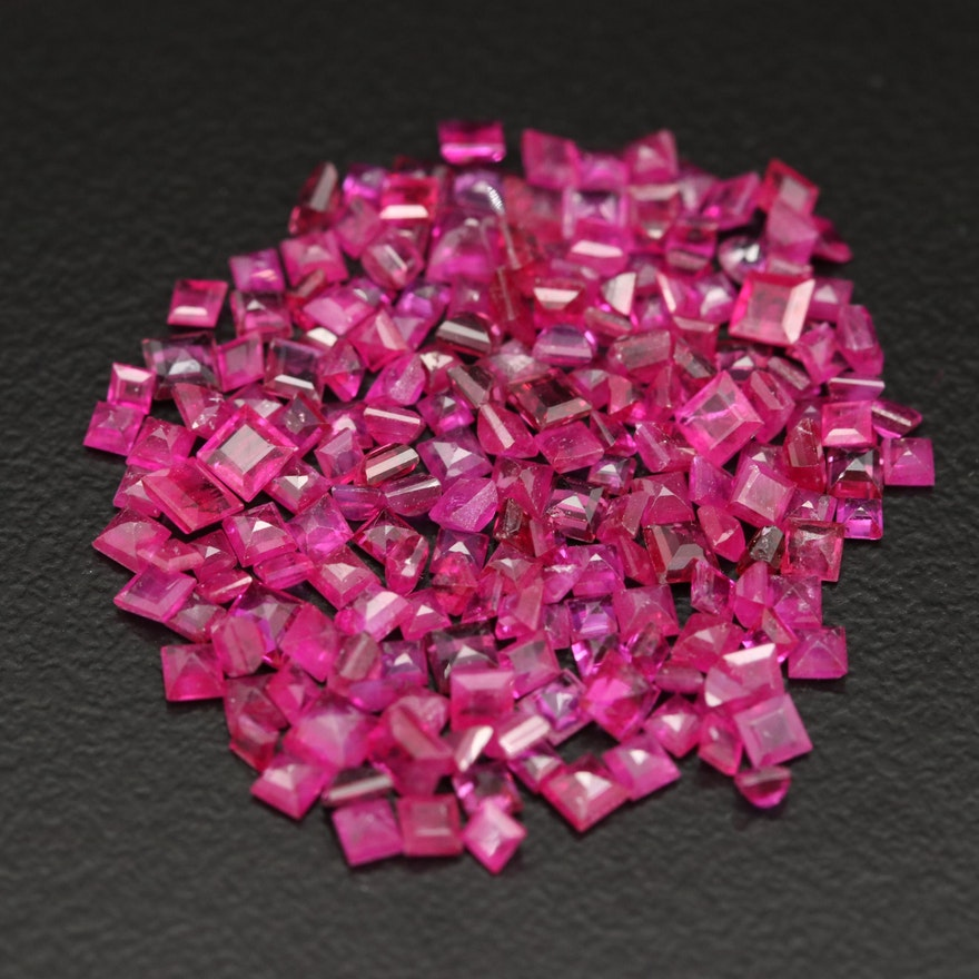 Loose 12.90 CTW Mixed Cut Rubies