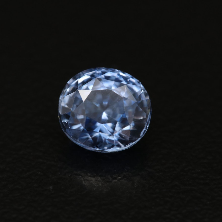 Loose 2.04 CT Oval Faceted Sapphire with GIA Report