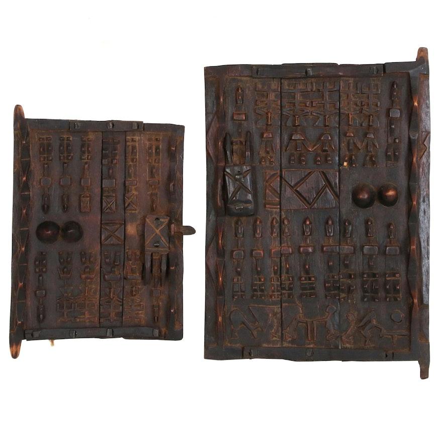 Dogon Shutter Panels with Figural Motif, Mali