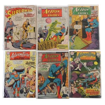 "DC Comics Silver Age ""Superman"" Comic Books Including ""The Death of Superman!"""