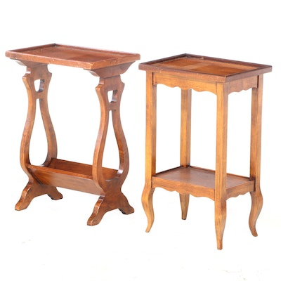 Two Sarreid Ltd. Hardwood Side Tables