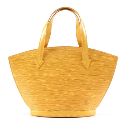 Louis Vuitton Saint Jacques Handbag in Tassil Yellow Epi Leather