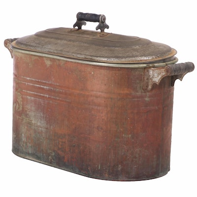 Copper-Plated Wash Boiler, Late 19th/Early 20th Century