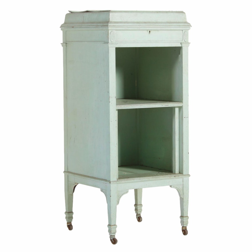 Painted Cabinet from Early 20th Century Victrola
