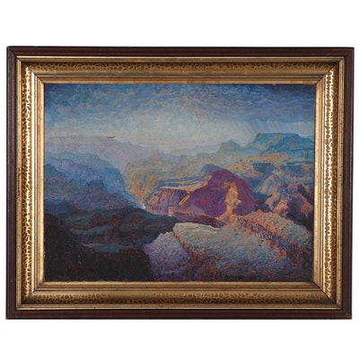 Landscape Oil Painting of Grand Canyon, Circa 1920