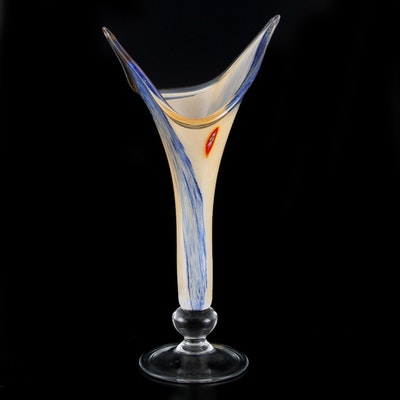 Italian Blown Art Glass Vase