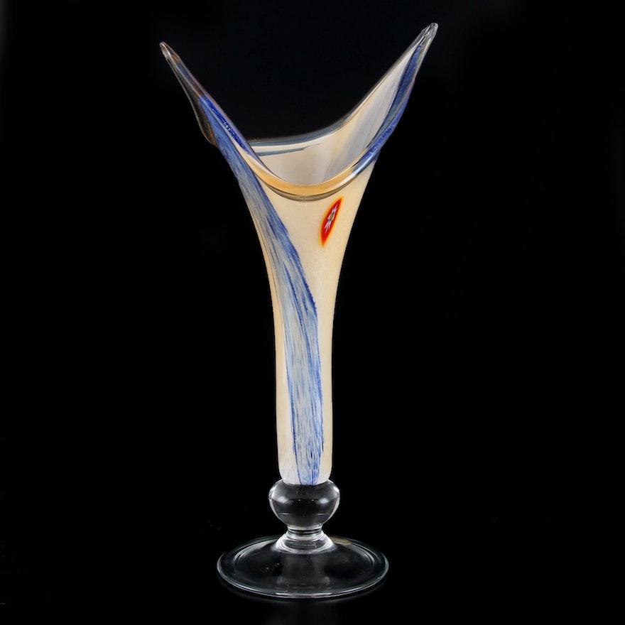 Italian Blown Art Glass Vase