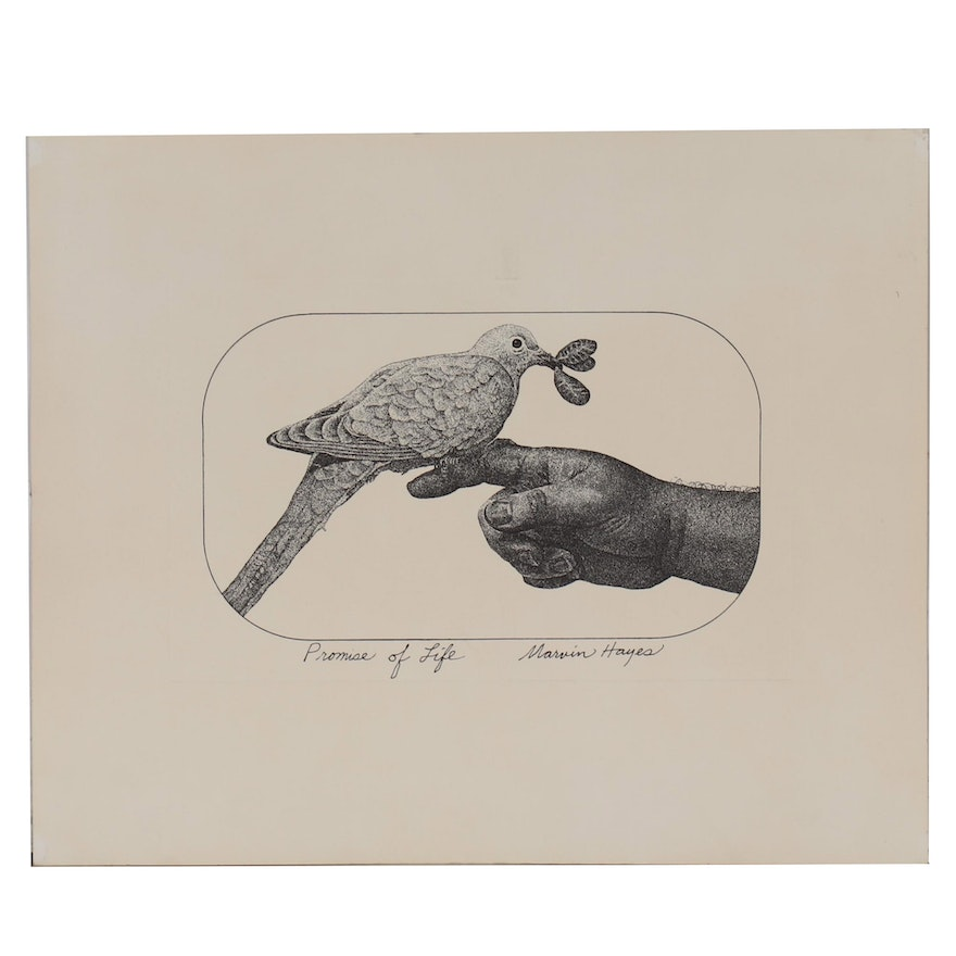 """Lithograph After Marvin Hayes """"Promise of Life"""""""