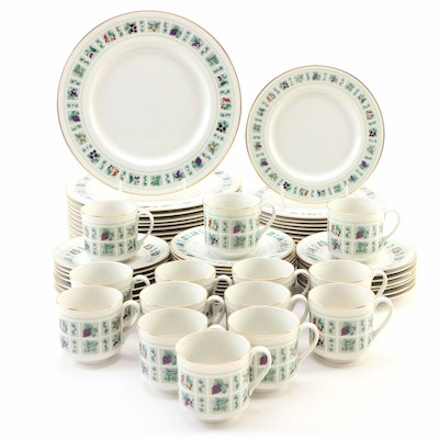 "English Royal Doulton Ceramic ""Tapestry"" Dinnerware Set, Late 20th Century"