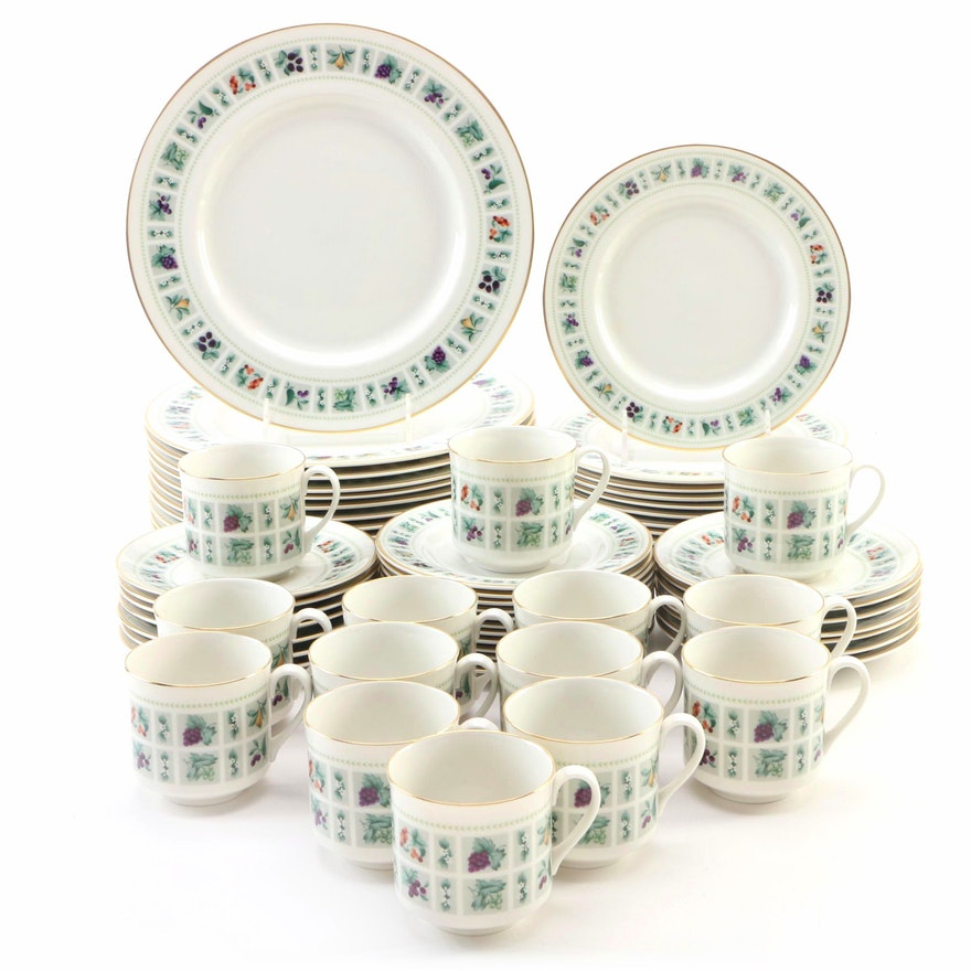 "English Royal Doulton Ceramic ""Tapestry"" Dinnerware Set, Late 20th Century"