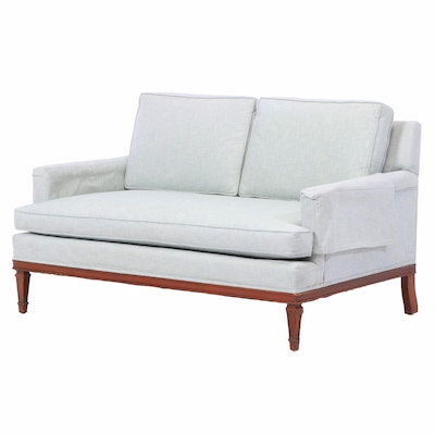 Modernist Upholstered Loveseat, Second Half 20th Century
