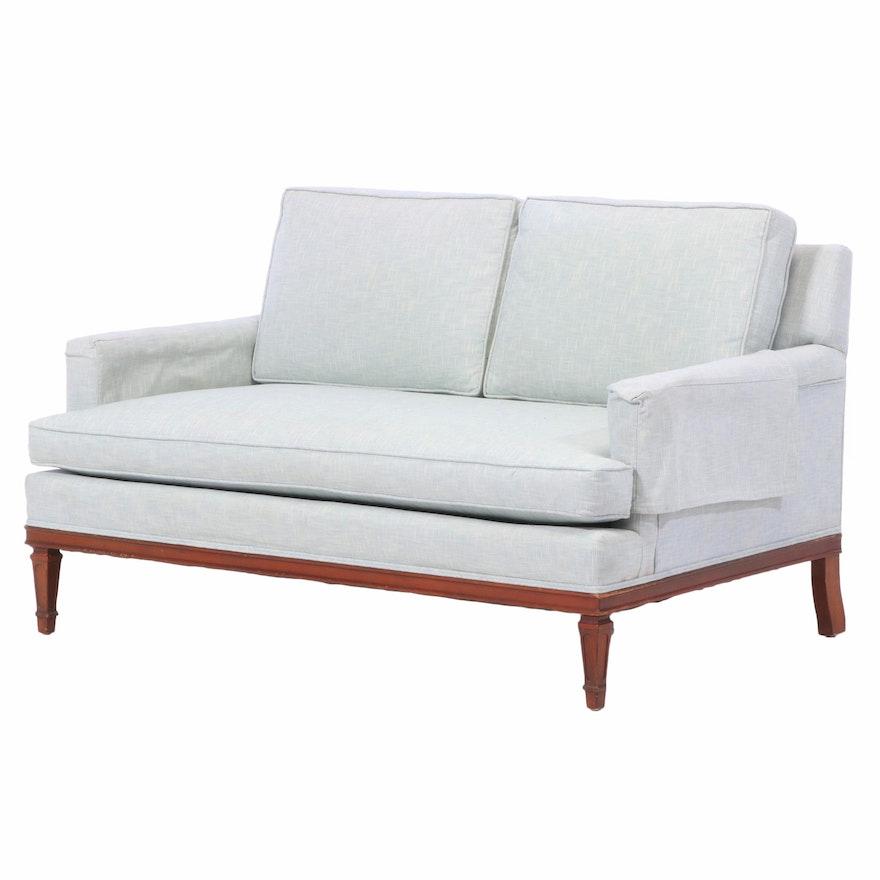 Modernist Upholstered Loveseat, Second Half 20th Century